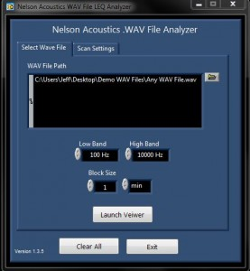 WAV File Analyzer Configuration