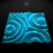 3d wavy surface. Vector illustration for technology and science design.